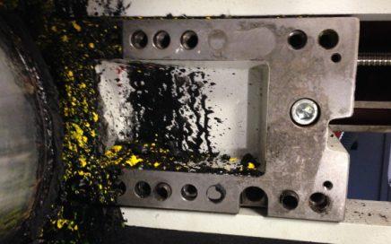 Ce que nous voulons éviter : La salissure de l'encre dans la machine